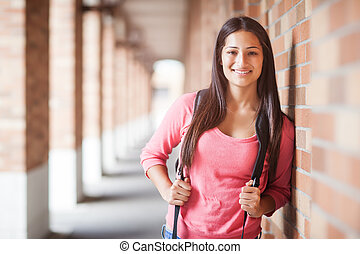 Hispanic college student - A portrait of a hispanic college...