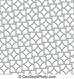 Simple geometric vector seamless pattern - abstract elements
