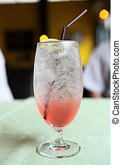Cherry italian soda