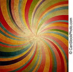 swirl stripe centered on grunge brown background
