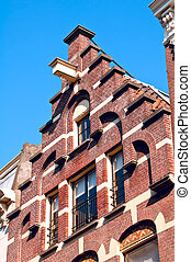 Trapgevel or stair-step gable, Amsterdam - A good example of...