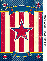 US poster with red star - A patriotic background for you