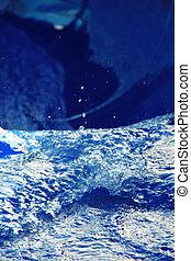 Water slide in macro