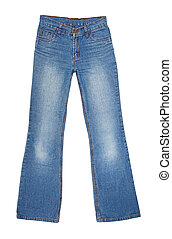 Jeans pants isolated on the white background
