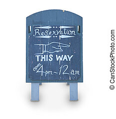 reservetion wood board - reservation blue wood board with...