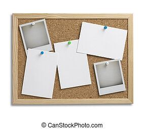 cork bulletin notice board copy space with clipping path 1 -...