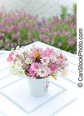 vase flower - white vase and flower on the white table