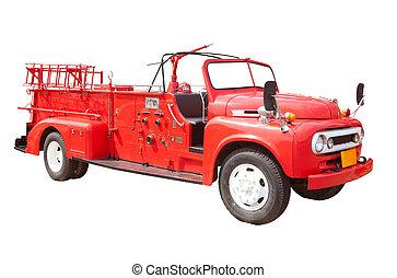 fogo, caminhão