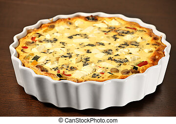 Quiche Lorraine - A picture of freshly baked vegetable...