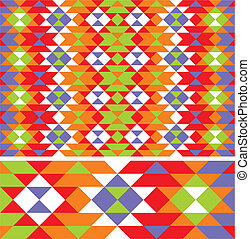 vector mexican ethno pattern - vector seamless mexican ethno...