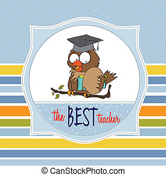 Owl Teacher in vector format