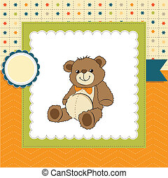 card with a teddy bear