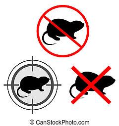 No rats - Creative design of no rats sign