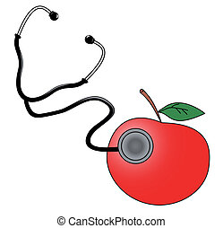 Medical apple - Design of medical aplle illustration