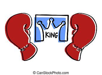 King boxing - Creative design of king boxing