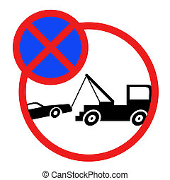No parking sign - Design of no parking zone sign