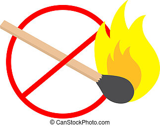 No fire sign - Creative design of no fire sign