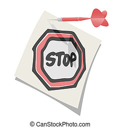 Stop paper message - Creative design of stop paper message
