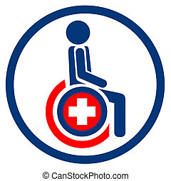 Paraplegic chair - Creative design of paraplegic chair sign