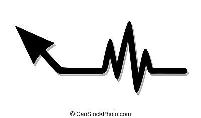 Up arrow pulse - Creative design of up arrow pulse