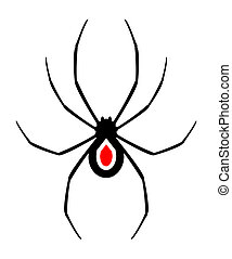 Spider design - Design of black spider illustration
