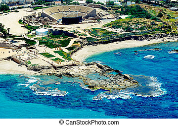 Travel Photos of Israel - Caesarea - Aerial Photography of...