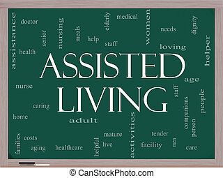 Assisted Living Concept on a blackboard - Assisted Living...