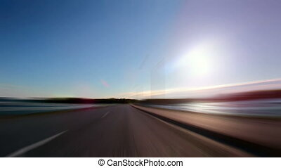 Fast Driving on the Highway, blurred