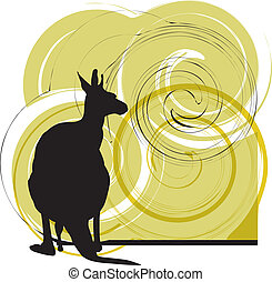 Kangaroo vector illustration