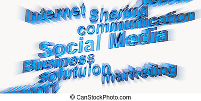 3d social media and other related words