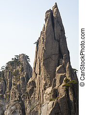 Huangshan Spire - A steep spire in the Huangshan mountains...