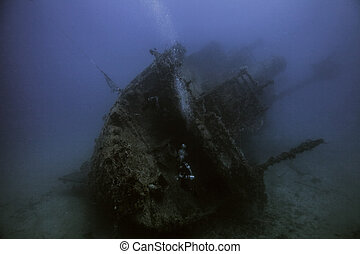 The Eagle shipwreck in Key largo, Florida
