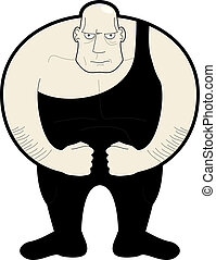 Strong man - Cartoon design of strong man