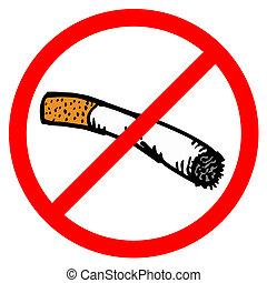 No smoke draw sign - Creative design of no smoke sign