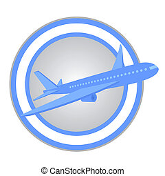 Plane travel - Design of plane travel icon