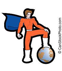 Hero vector - Design of world hero vector