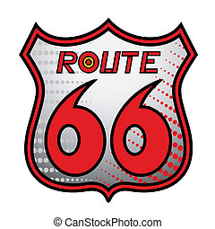 Route 66 sign - Design of route 66 sign