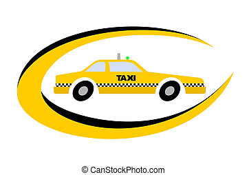 Taxi emblem - Design of urban taxi emblem