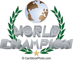 World champion - Creative design of world champion emblem