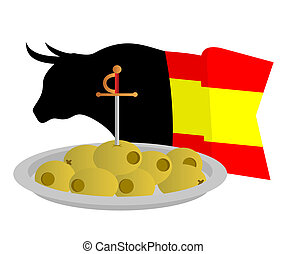 Spanish party - Creative design of spanish bull