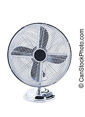 Retro fan isolated - Vintage ventilator isolated on white...