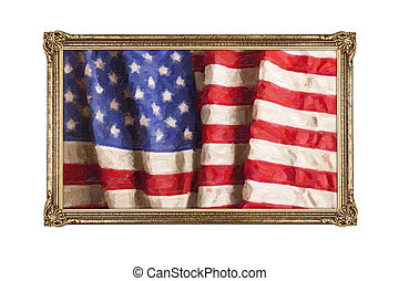 Oil painting of old glory