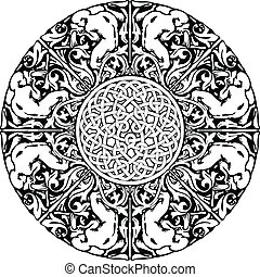 Renaissance seamless pattern Vector illustration