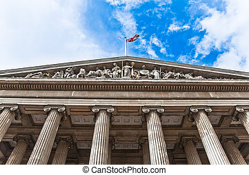 Skyline of British museum - British museum entrance on...