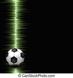 Soccer ball on electric background