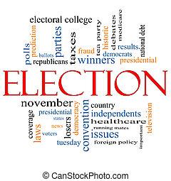Election Concept Word Cloud - Election Word Cloud Concept...