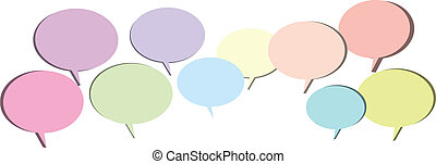 Chat Bubbles - Several chat or talk bubbles in pastel colors...