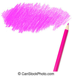 pink colored pencil drawing - colored pencil drawing on a...