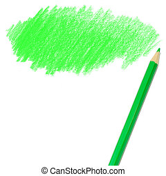 green colored pencil drawing - colored pencil drawing on a...
