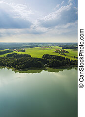 panoramic aerial view Bavaria - An image of a panoramic...